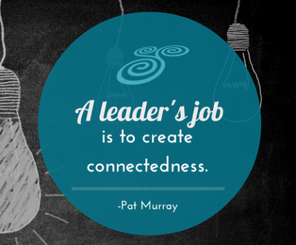 A leader's job is to create connectedness - Copy